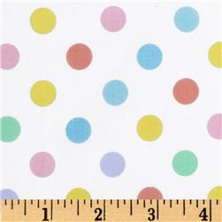 Brights & Pastels Basics Polka Dot White/Multi
