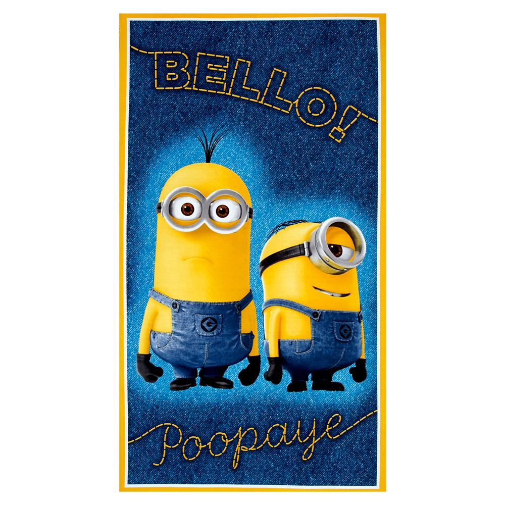 Millions Of Minions Bello! Poopaye 23.5'' Panel Denim Fabric
