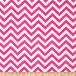 Flannel Chevron Pink/White Fabric