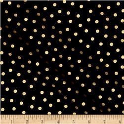Mixology Luxe Dotted Black & Gold Metallic