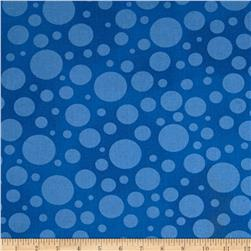 "110"" Wide Quilt Back Bubbles Royal Blue"