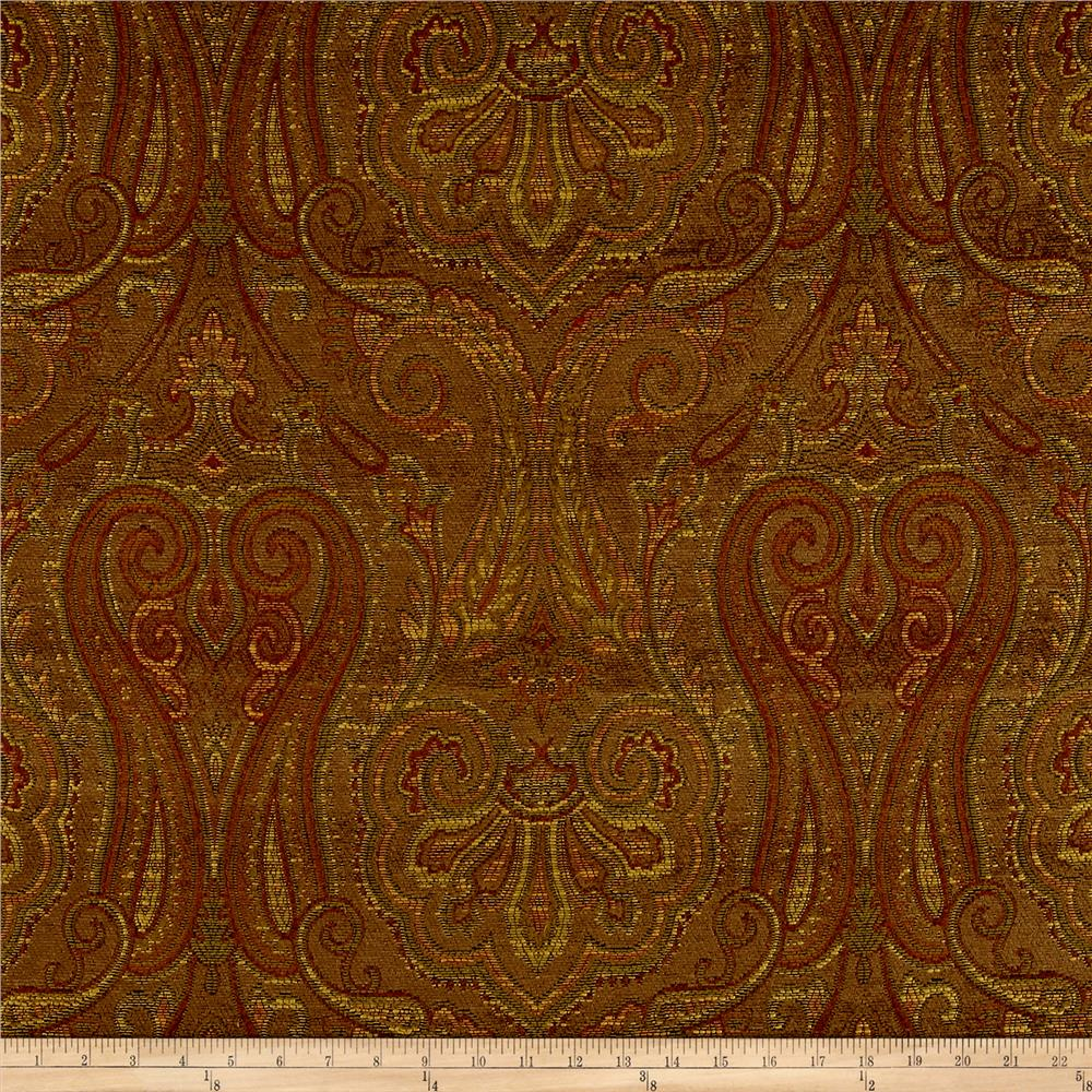 Waverly Clubroom Paisley Chenille Jacquard Java