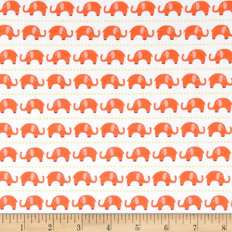 Riley Blake Cotton Jersey Knit Oh Boy Elephants