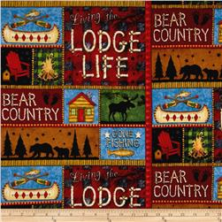 Lodge Life Flannel Patchwork Multi