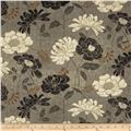 Twilight Blooms Large Floral Dark Grey
