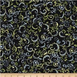Enchanted Grove Vines Black