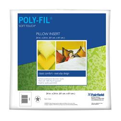 "Fairfield Soft Touch Supreme Poly-Fil Pillow 24"" Square"