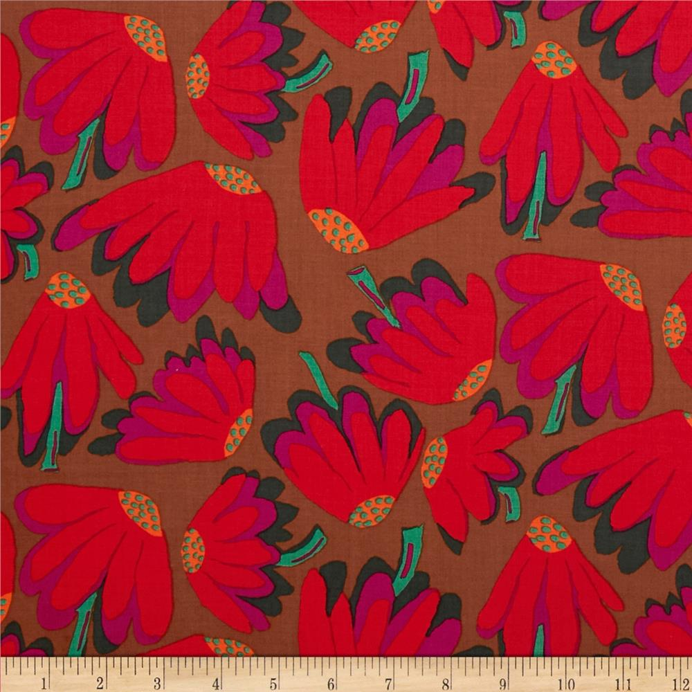 Kaffe Fassett Collective Lazy Daisy Brown