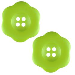 "Riley Blake Sew Together 2"" Flower Matte Button Lime"