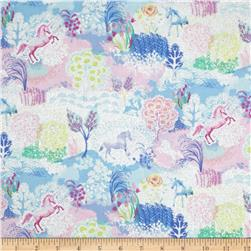 Timeless Treasures Glitter Unicorns Multi