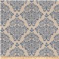 Fabricut Tact Damask Denim