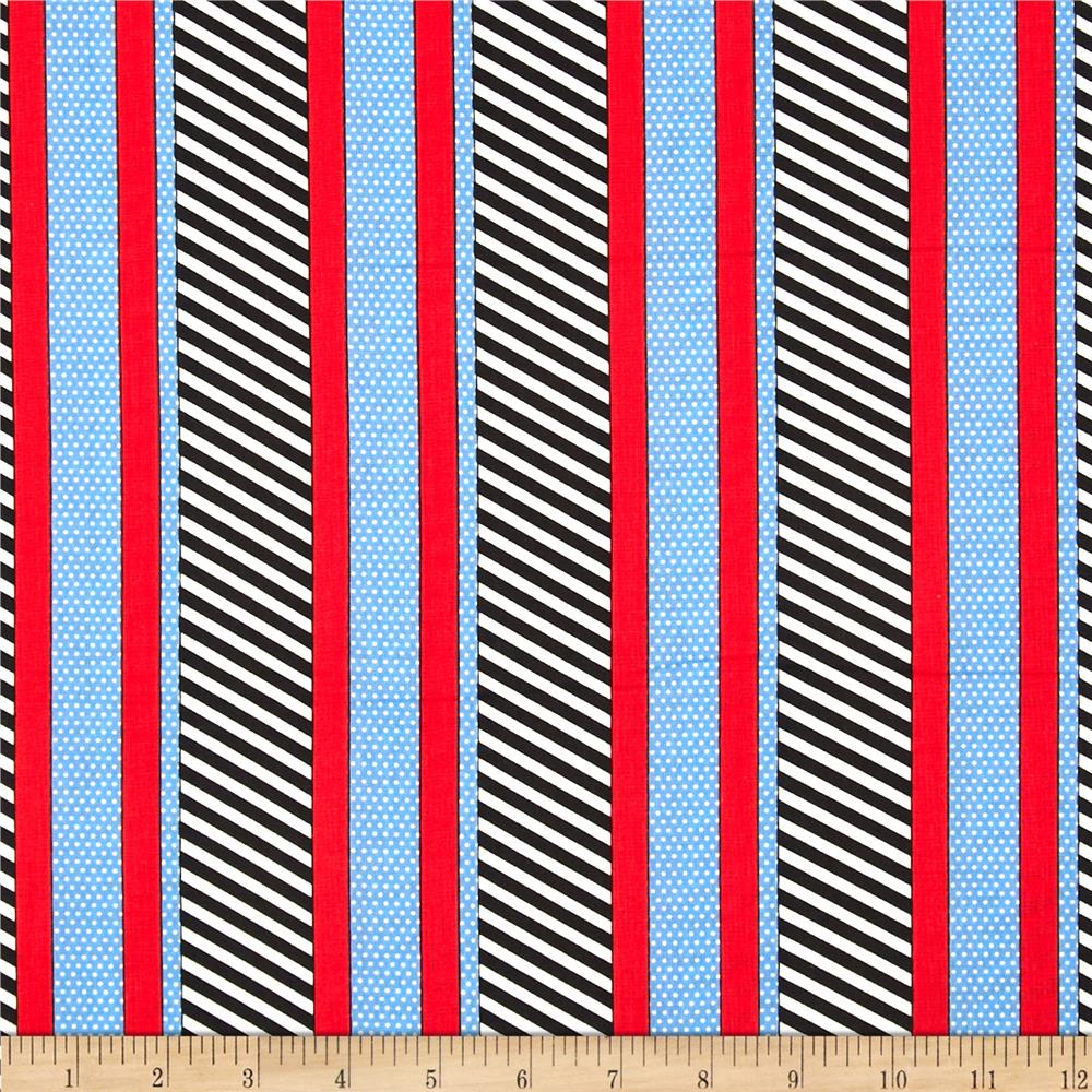 Kanvas Cabana Dotted Stripe Navy/Blue