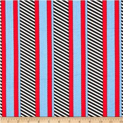 Kanvas Cabana Dotted Stripe Navy/Blue Fabric