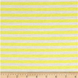 Jersey Knit Stripes Bright Yellow/Ivory