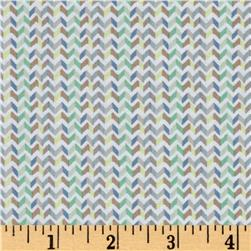 Windham Little Tinies Chevron Stripe  Taupe