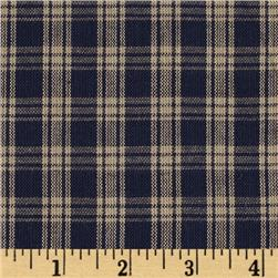 Homespun Basics Plaid Navy/Natural Fabric