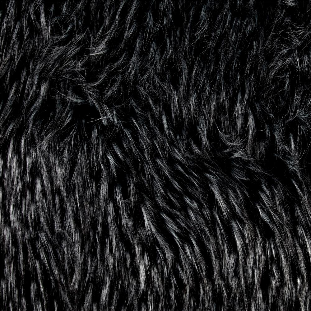 Luxury Faux Fur Falcon Black/Silver