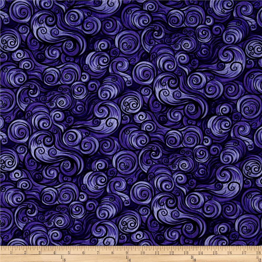 Nite Owls Swirls Dark Purple