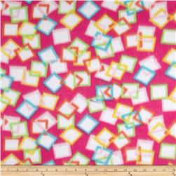 Fleece Print Square Pink