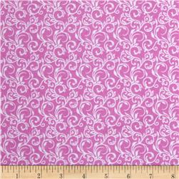 Cuddle Me Basics Flannel Scroll Light Pink