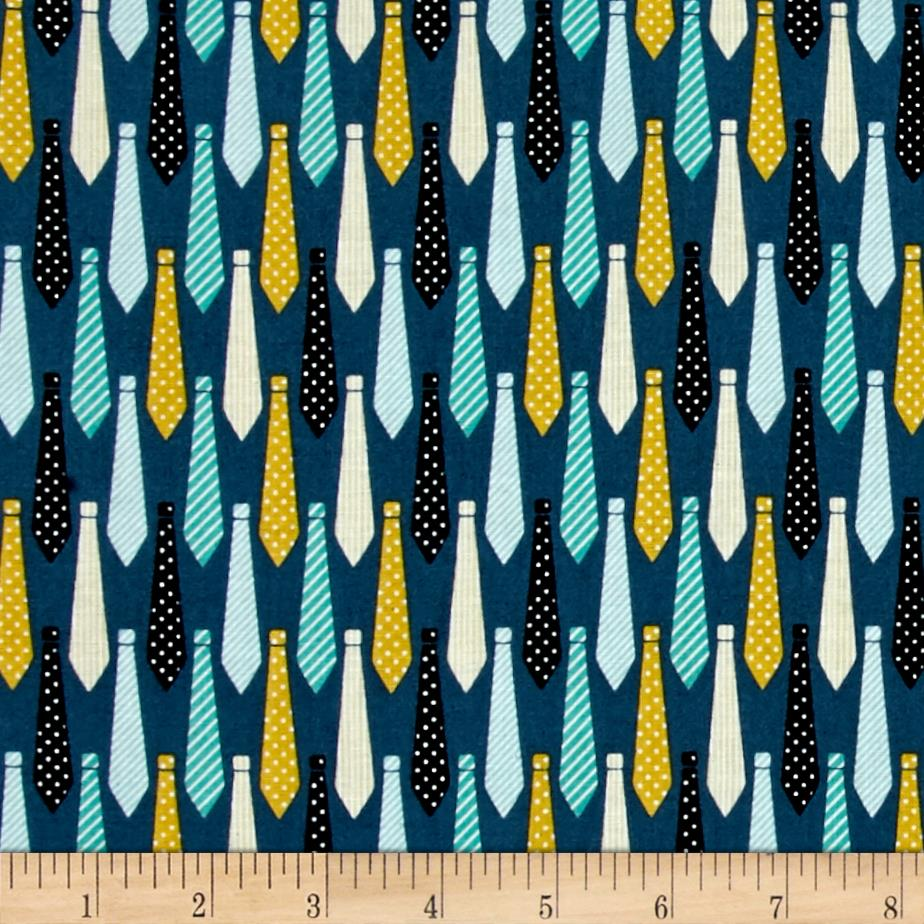 Riley Blake Designer Novelty Ties Blue