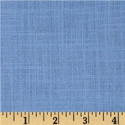 Slub Cotton Voile Shirting Blue
