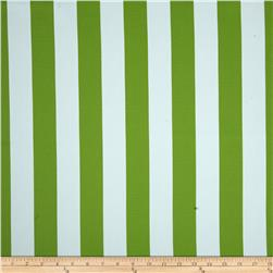 RCA Vertical Stripe Blackout Drapery Fabric Green
