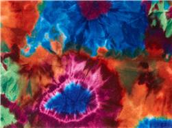 Printz Felt 9'' x 12'' Craft Cut 1960's Tie Dye