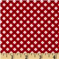 Riley Blake Teddy Bear's Picnic Teddy Gingham Red