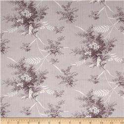 Moda Whitewashed Cottage Lilac Bouquets Tonal Heather