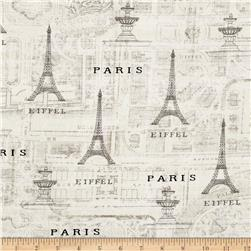 Timeless Treasures Bonjour Paris Map Cream