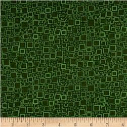 Poppy Panache Squares & Dots Dark Green