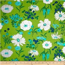 Moda Color Me Happy Laminated Cotton Flower Garden Lime