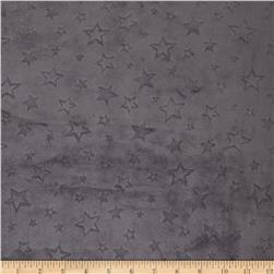 Minky Embossed Star Cuddle Charcoal