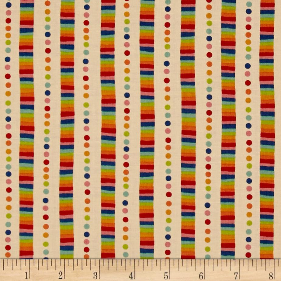 Moda Flying Colors Rainbow Stripe Sand