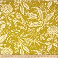 Georgette Home Decor Jenna Floral Chartreuse/Cream