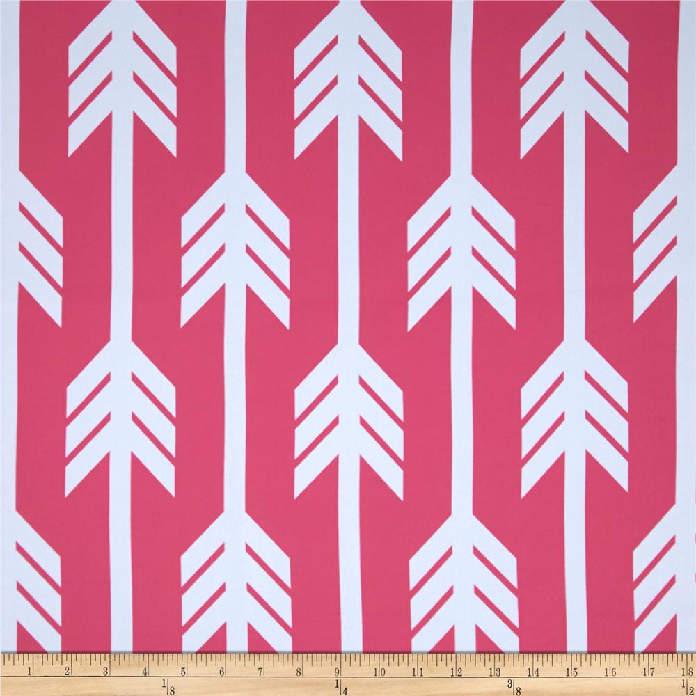 RCA Arrows Blackout Drapery Fabrics Hot Pink/White