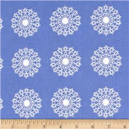 Windham Modern Country Lace Medallion  Periwinkle