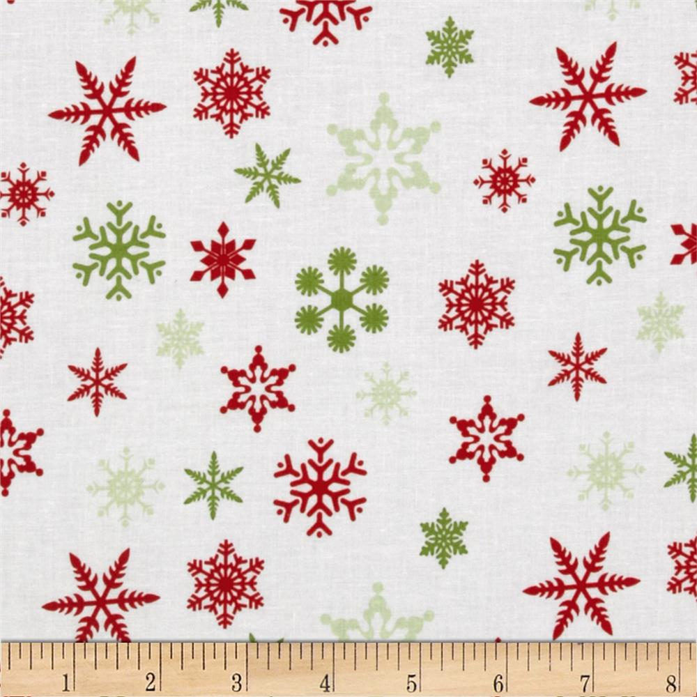 Riley Blake Holiday Snowflakes White