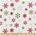 Riley Blake Holiday Banners Snowflakes White