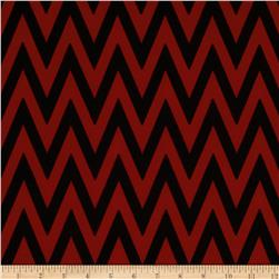 Fashionista Jersey Knit Chevron Brick/Black