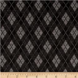 Double Knit Argyle Black/Grey