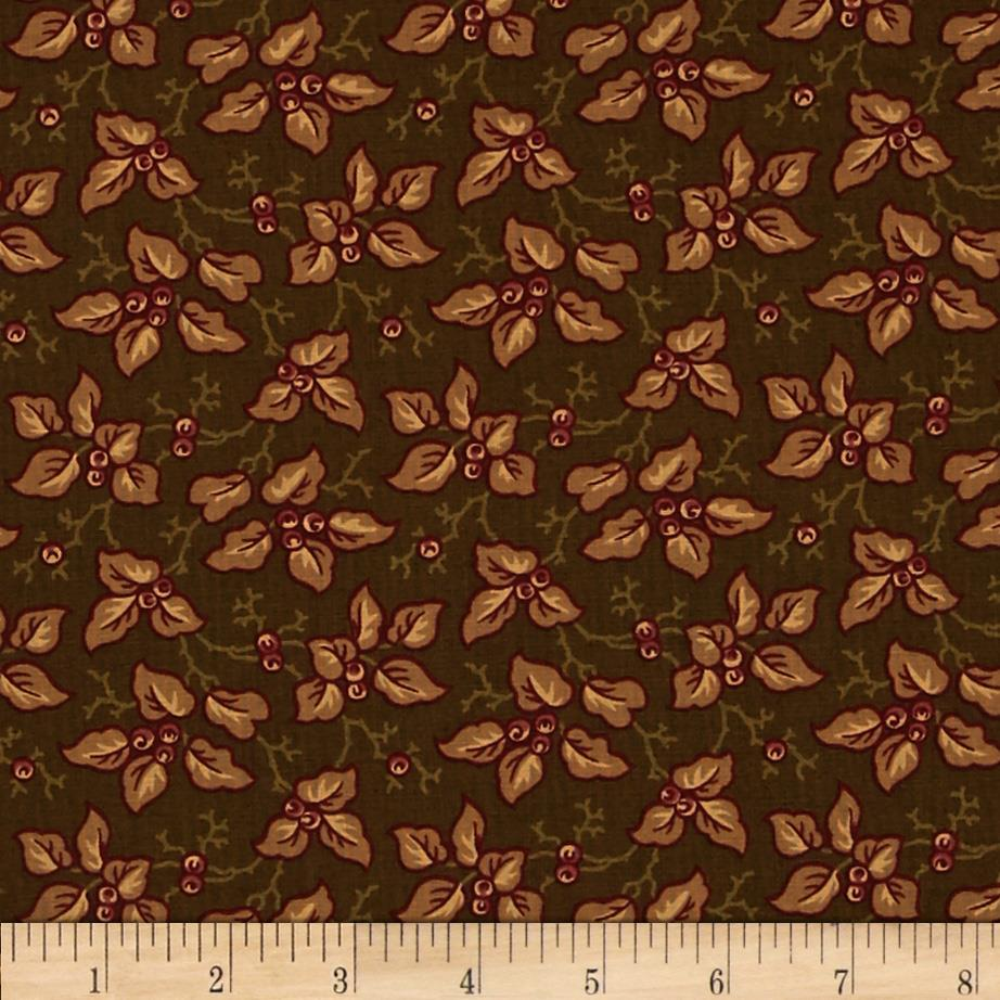 Moda Collections for a Cause Mill Book 1892 Leaves & Berries Walnut