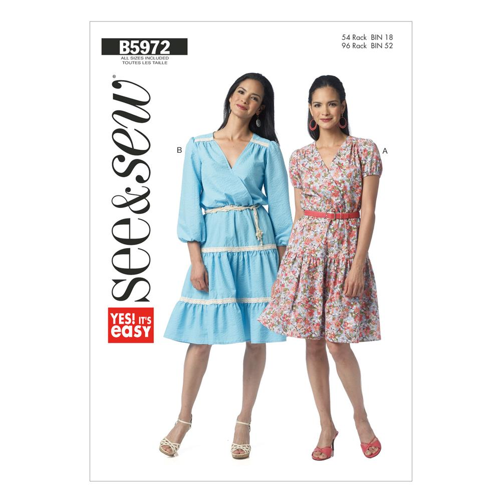 Butterick Misses' Dress Pattern B5972 Size 0A0