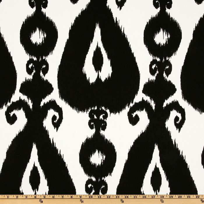 Richloom Iskander Ikat Black Fabric