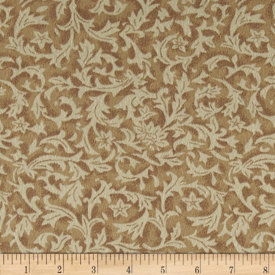 110'' Wide Flannel Leaf Ivory Fabric By The Yard