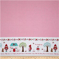 Riley Blake Little Red Riding Hood Little Border Pink