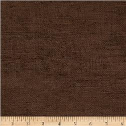 Moda Rustic Weave Chocolate Fabric