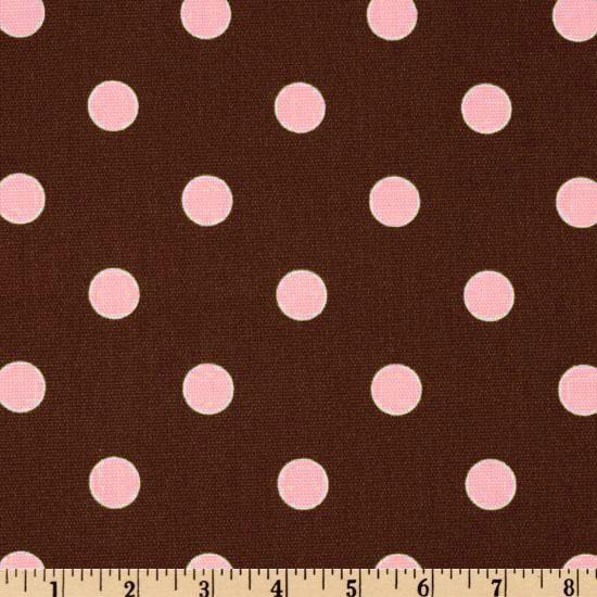 Premier Prints Polka Dot Brown/Pink