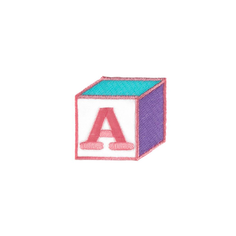 A Block Applique Pink